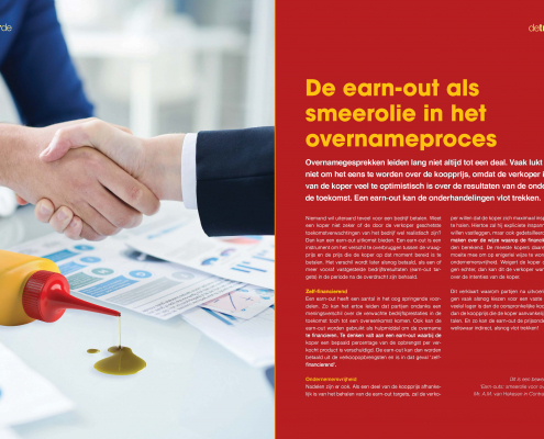 De earn-out als smeerolie in het overnameproces